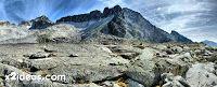 Coronas 9 1 fhdr - Glaciar e Ibones de Coronas.