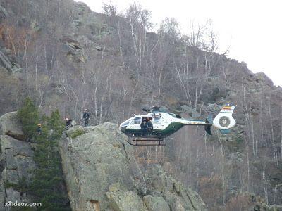 P1310715 - Simulacro de rescate de montaña.
