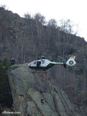P1310718 - Simulacro de rescate de montaña.