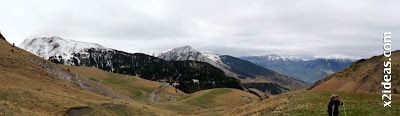 Panorama 1 001 - Ardonés, 3.11.12, la montaña de Cerler.