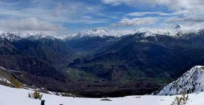 Panorama 6 1 - Sierra de Chía, de foqueo ... Valle de Benasque.