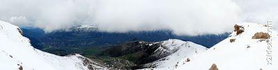 Panorama 5 1 - Gallinero después de nevar anoche.