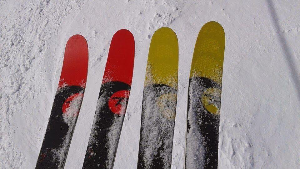 r - 92, probando esquís.
