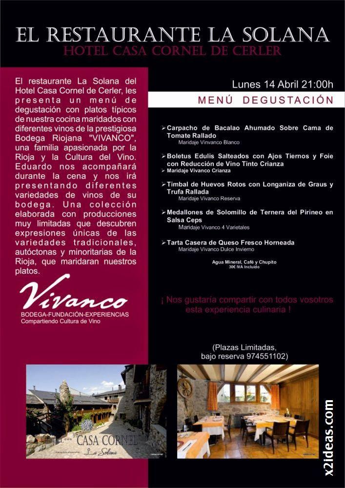casa cornel menu 1 - Restaurante La Solana y Bodegas Vivanco excelente pareja.
