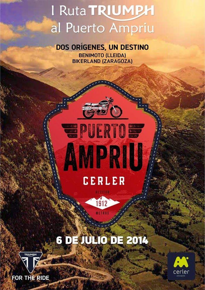 Cartel Ruta Ampriu - Triumph en Cerler, Valle de Benasque, Pirineos