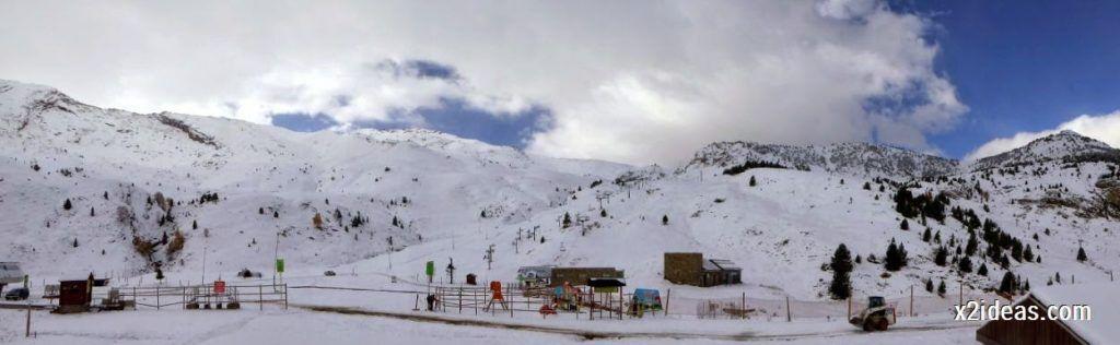 P1040414 1024x316 - Primera cata de nieve, Gallinero pero en raquetas.