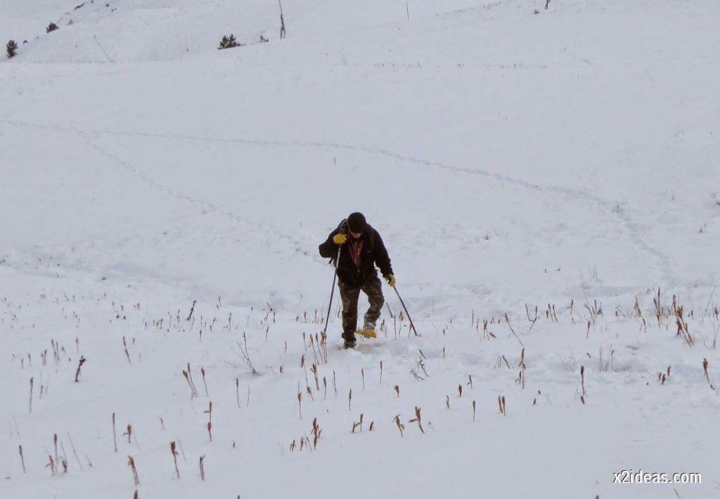 P1040422 1024x709 - Primera cata de nieve, Gallinero pero en raquetas.