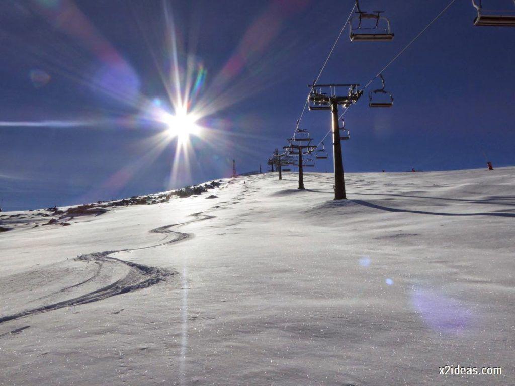 P1050050 1024x768 - Sexta esquiada, Cerler mantiene nieve polvo en cotas altas.