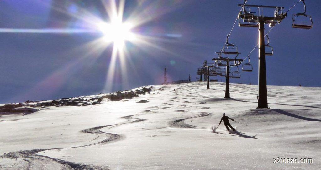 P1050065 1024x545 - Sexta esquiada, Cerler mantiene nieve polvo en cotas altas.