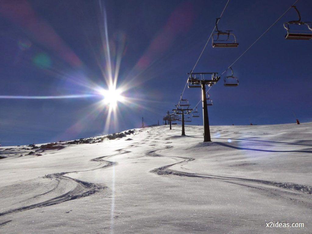 P1050069 1024x768 - Sexta esquiada, Cerler mantiene nieve polvo en cotas altas.