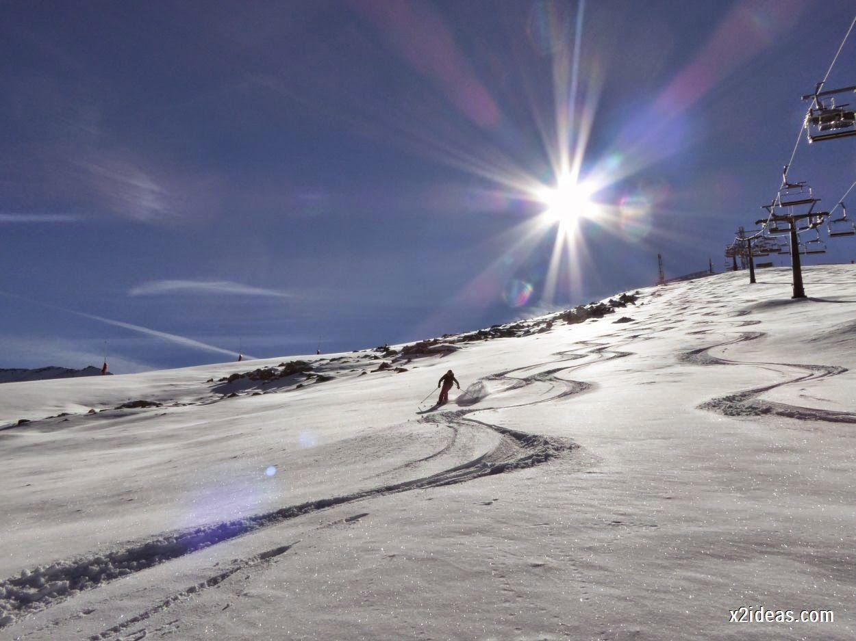 P1050089 5 - Sexta esquiada, Cerler mantiene nieve polvo en cotas altas.