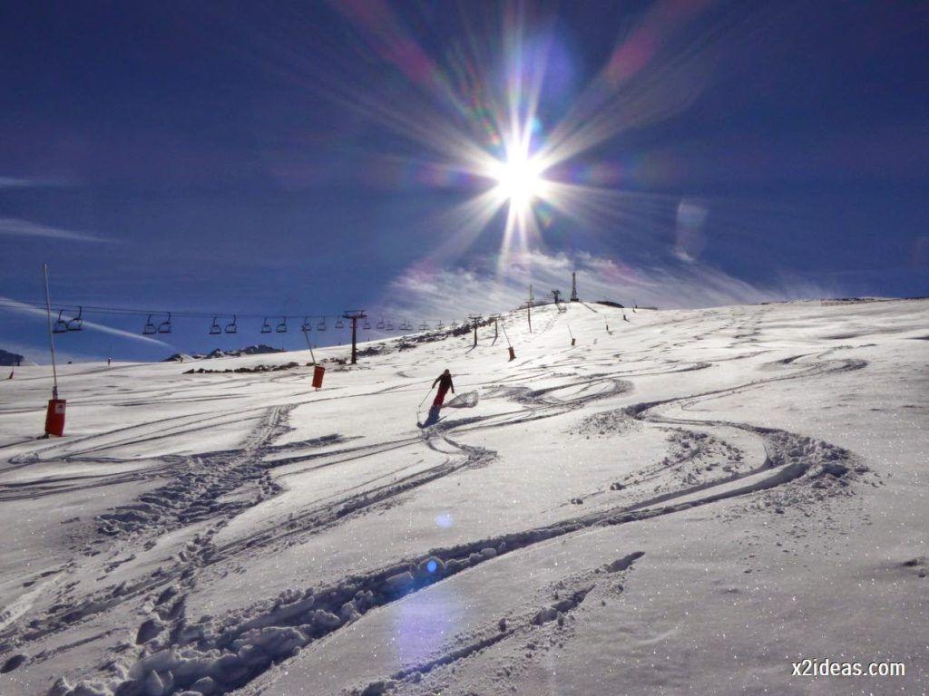 P1050113 1024x768 - Sexta esquiada, Cerler mantiene nieve polvo en cotas altas.