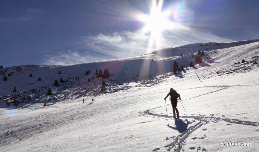 P1050117 1024x601 - Sexta esquiada, Cerler mantiene nieve polvo en cotas altas.