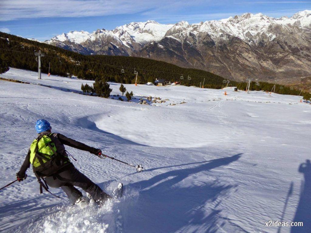 P1050139 1024x768 - Sexta esquiada, Cerler mantiene nieve polvo en cotas altas.