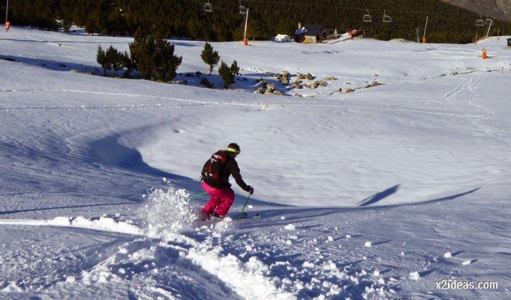 P1050156 1024x602 - Sexta esquiada, Cerler mantiene nieve polvo en cotas altas.