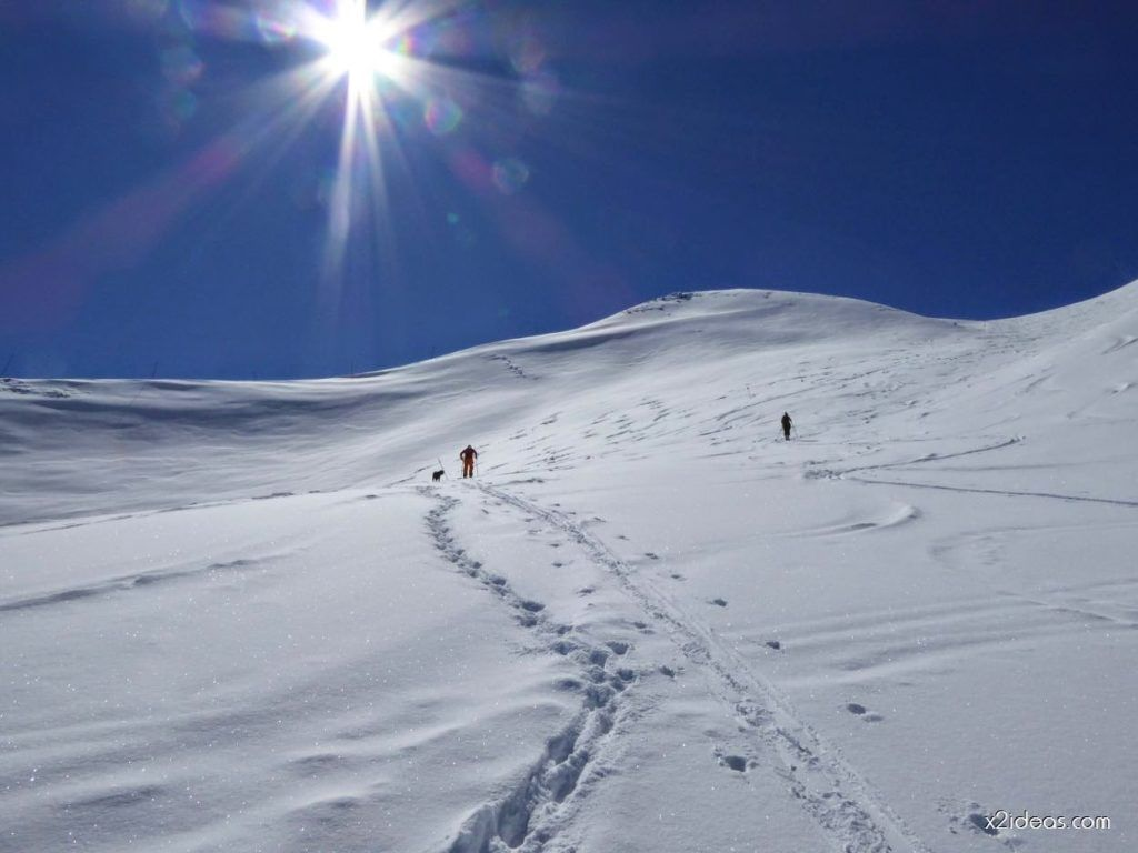 P1100249 1024x768 - Pico Gallinero con nieve polvo, Cerler
