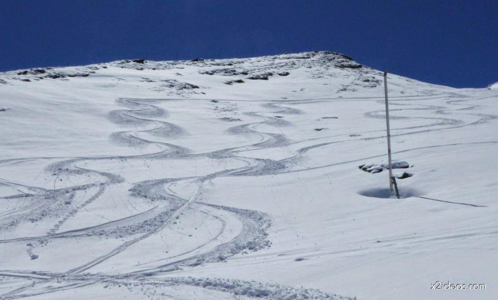 P1100358 1024x618 - Pico Gallinero con nieve polvo, Cerler