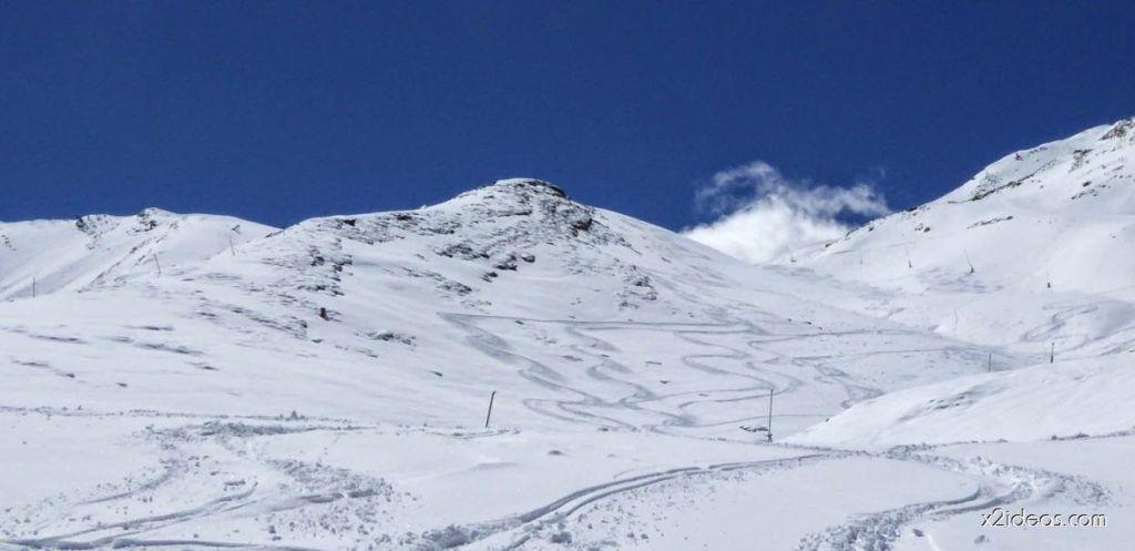 P1100370 1024x497 - Pico Gallinero con nieve polvo, Cerler