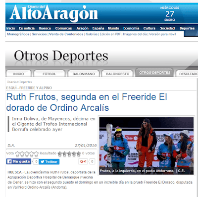 RuthFrutossegundaenelFreerideEldoradodeOrdinoArcalC3ADs - Freeride El Dorado 2016, sueño cumplido.