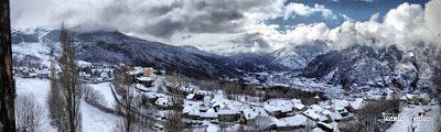 Panorama1 fhdr - Nieve de verdad en Cerler, Valle de Benasque.
