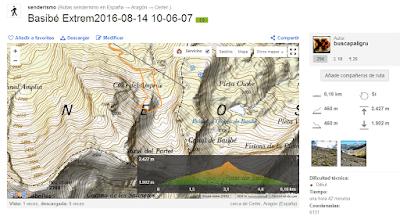 WikilocrutaBasibC3A9Extrem20160814100607CerlerAragC3B3nEspaC3B1aGPStrack - Paseo por Basibé, Cerler (Valle de Benasque)