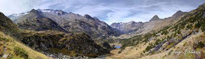 Panorama10 fhdr - Ibones de Billamorta, Valle de Benasque.