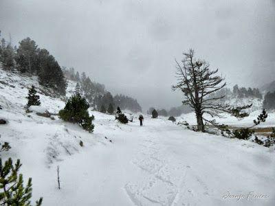 P1310170 fhdr - Y esquiamos hasta Llanos del Hospital desde La Besurta, Valle de Benasque.