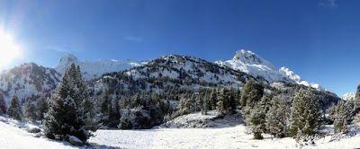 Panorama11 001 1 - Primera nevada de noviembre en el Valle de Benasque.