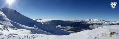 Panorama5 - Sexto y sigue polvo en Cerler, Valle de Benasque.