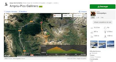 Wikiloc rutaAmpriu PicoGallinero  https   es.wikiloc.com wikiloc view.do  - Año nuevo en el Pico Gallinero, Cerler.