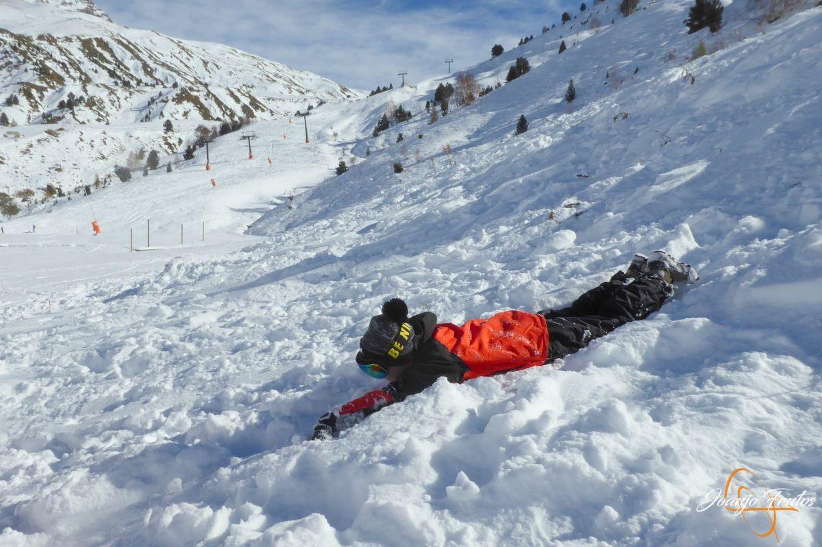 P1200626 - Cuarta esquiada en Cerler, aún con nieve polvo.
