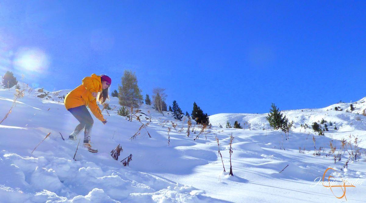 P1200634 - Cuarta esquiada en Cerler, aún con nieve polvo.
