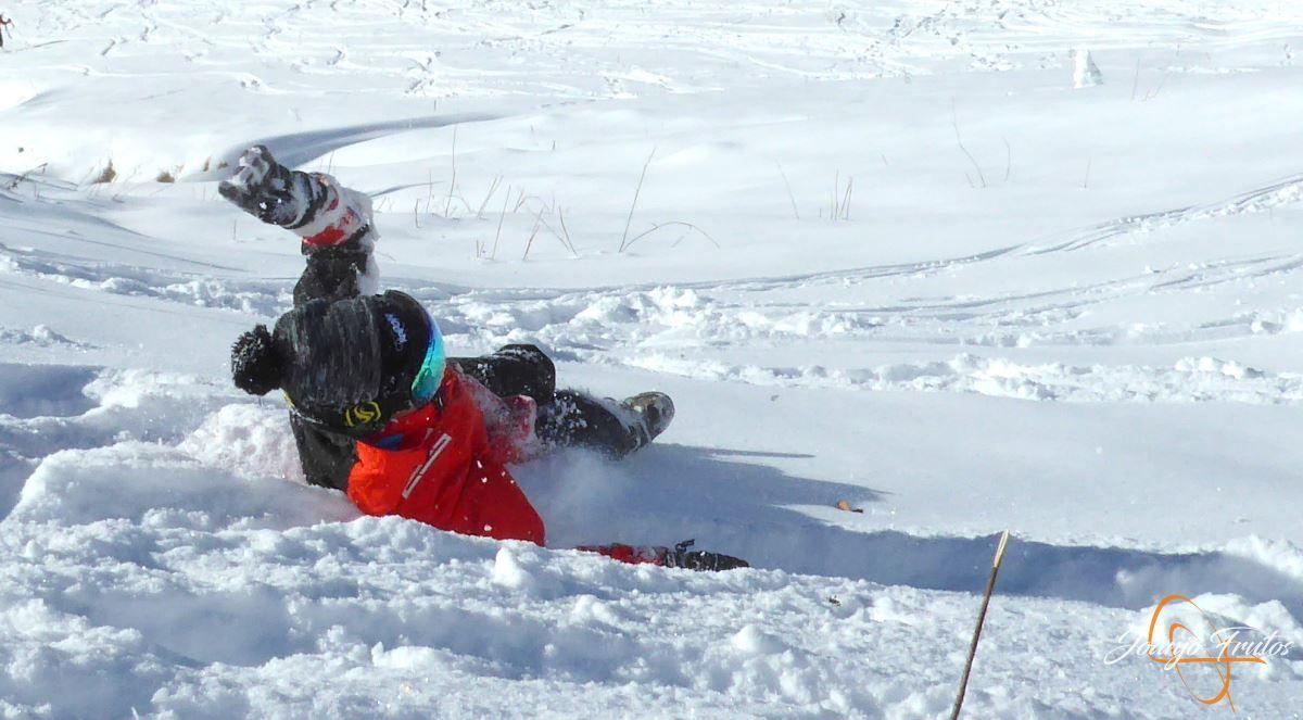 P1200640 - Cuarta esquiada en Cerler, aún con nieve polvo.