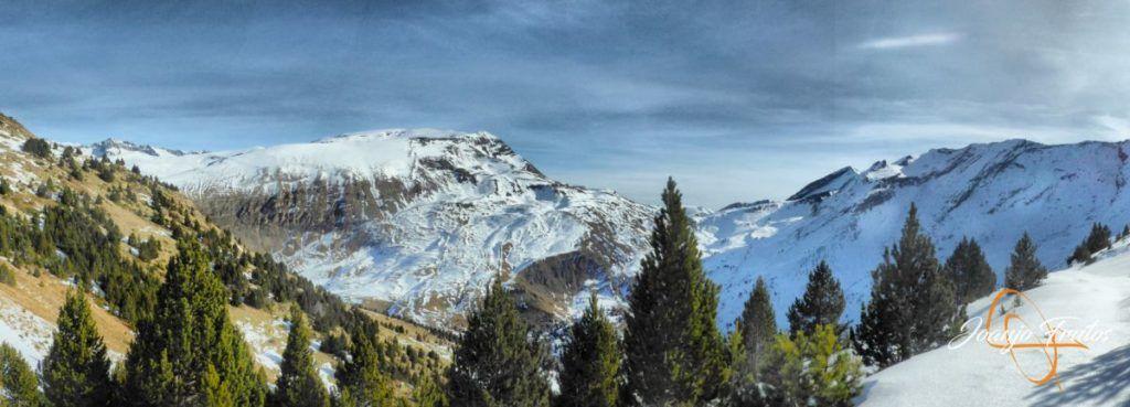 Panorama 2 001 fhdr 1024x369 - Travesía corta y con nieve virgen en Cerler.