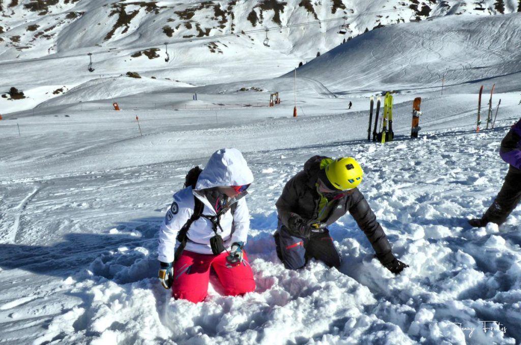P1310686 fhdr 001 1024x678 - Curso formación rescate en caso de alud de nieve.