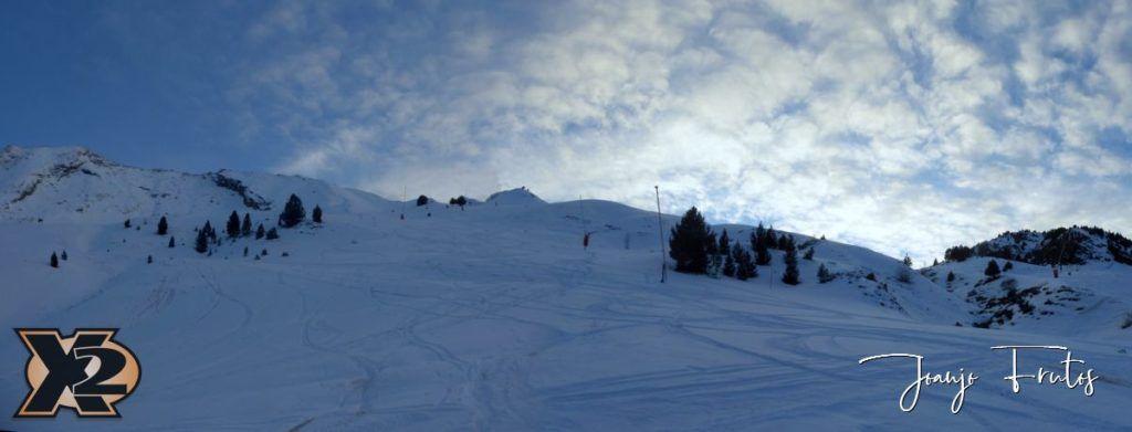 Panorama 8 1024x391 - Por la tarde más nieve en Cerler.