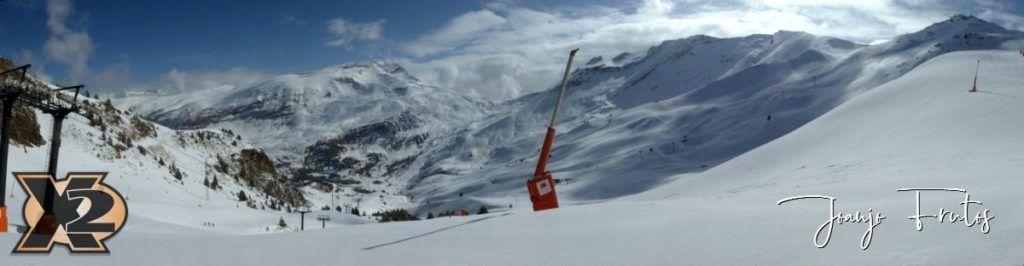 Panorama 3 1024x266 - Disfrutando la última nevada de Cerler