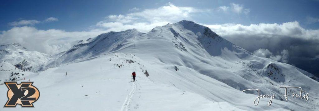 Panorama 4 1024x358 - Disfrutando la última nevada de Cerler