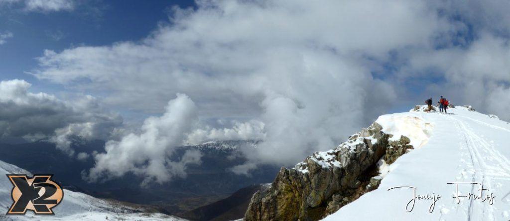 Panorama 6 1024x445 - Disfrutando la última nevada de Cerler